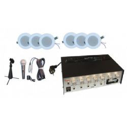 Pack amplificateur sono lecteur k7 Public adress sonorisation magasin