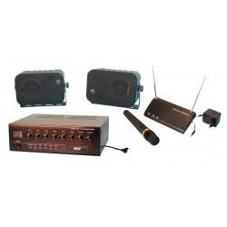 Pack sonorisation amplificateur micro hf haut parleur ensemble micro sans fil complet