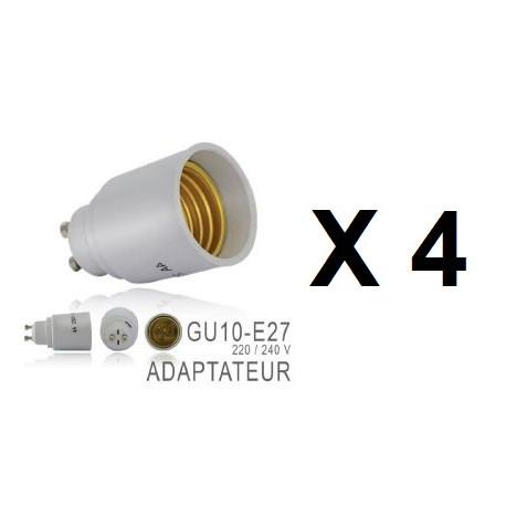 4 X Gu10 Adapter Lampenfassung Lampe E27 Fuhrte Anpassung 220v 12v