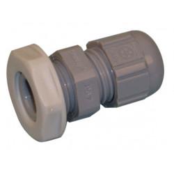 Wasserdichte kabelverschraubung grau auf pvc mit kabelschutzung 2 5 bis 6 5 mm
