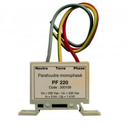 Parafoudre modulaire secteur 220v rail din 5ka type 3 parasurtenseurs parasurtension