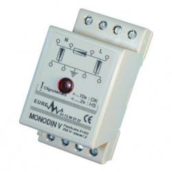 Pararrayos monofasico 220vca + indicador (fijación din) supresores de sobretensión pararrayos, protección contra sobretensiones