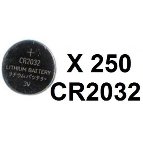 Lot de 250 piles bouton lithium cr2032 3v capacite 230ma ... 2e5e41c470a1