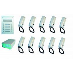 Doorphone full 10bp (add cable) audio door entry intercom building collective
