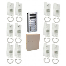 Doorphone full 12bp (add cable) audio door entry intercom building collective