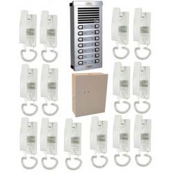 Doorphone full 14bp (add cable) audio door entry intercom building collective
