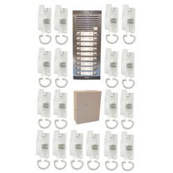 Portero fonico 18bp completo (cable a añadir) intercomunicador portero audio collectivo inmueble