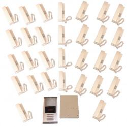 Doorphone full 30bp (add cable) audio door entry intercom building collective