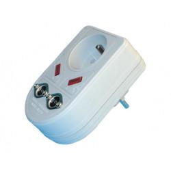 Blitzschutz einsteckbarer 220vac filter fernsehschutz schutz vor uberspannung elektronik