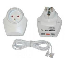 Blitzschutz einsteckbarer 220vac filter telefonischschutz tel fax modem adsl schutz der gerate gegen gewitter blitzschutz blitzs