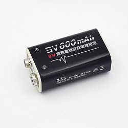 rechargeable batteries 6F22 006p 9V Li-ion 600mah
