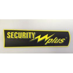 Label adhesive security plus 185x50mm signage display panel sticker sticker