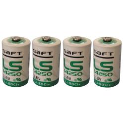 4 saft batteria al litio 3,6 v 1/2 aa ls14250 tl5902 tl5151 tl5101 tl4902 ls 14250 sl350 sl750 lct1200