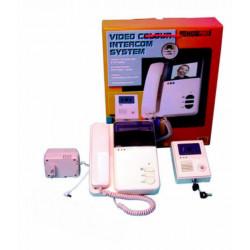 Interphone electronique villa portier video couleur 6 fils saillie (caméra moniteur) camset8