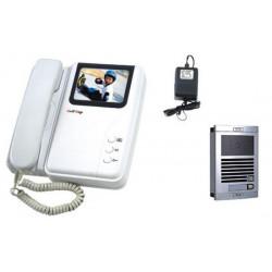 Interphone electronique villa portier video couleur 6 fils saillie caméra es 15bs 1 moniteur me 3 cl