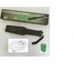 Détecteur de métaux 16 led + batterie rechargeable et chargeur détection fouille sécurité