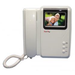 Moniteur surveillance video couleur 4' 8cm pour portier video codee video surveillance