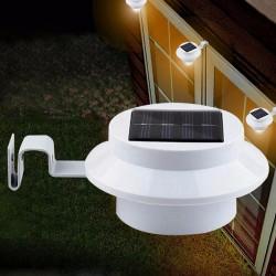 luce 3 LED bianco luminoso giardino ha condotto solare esterna impermeabile del giardino di lampada da parete percorso per passi