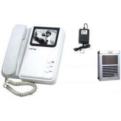 1 interphone electronique villa portier video n/b saillie (caméra moniteur) noir et blanc