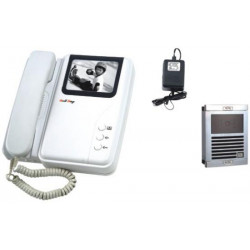 Intercom electronic b w 2 wire surface mounting video doorphone (camera+monitor) digital video doorphone system security alarm d