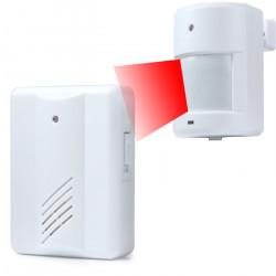 Sonnette alarme detection mouvement pir recepteur hf carillon infra rouge YF-0155 433MHZ