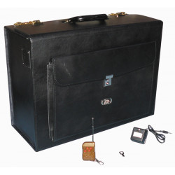 Mallette attache case electrifie 80 000v transport fond bagage electrique alarme sirene alarme 105db