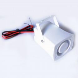 Electronic alarm siren 110db grey waterproof miniature siren, 12vdc 150ma alarm siren siren alarm sirens electronic acoustic ala