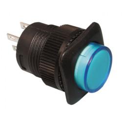 Boton pulsador off on con led azul 1a 250v 3a 125v