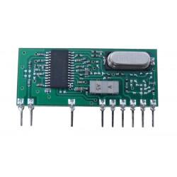 Ricevitore radio 433mhz 1 canale a larga banda per réf. ea62, réf. ea71 trasmissione radio aperture automatiche