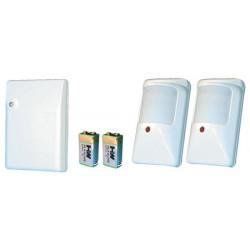 Kit infrarosso senza filo (2 r4ir 2 p9va + 1 r4) detettore volumetrico infrarosso cordless allarme kit