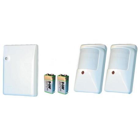 Alarm pack electronic wireless pir alarm pack (2 r4ir wireless pir detectors 2 p9va 9vdc alkaline battery+ 1 r4 channel receiver