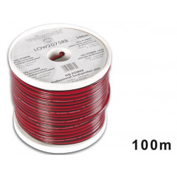 Cca loudspeaker wire 2x0.75mm2 red black reel 100m