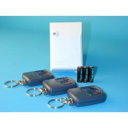 Pack domotique compose de : 3 telecommandes radio r4t + 1 recepteur hf 4 canaux