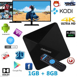 TV Box Android 1GB/8GB RK3229 Quad Core Cortex A7 1.5GHz 32-Bit WIFI Ultra HD IPTV KODI
