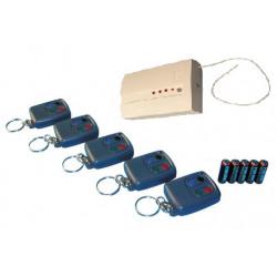Pack domotique compose de : 5 telecommandes radio r4t + 1 recepteur hf 4 canaux