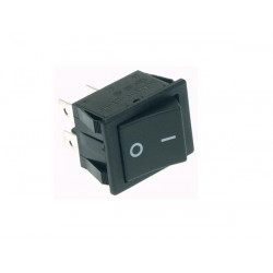 Power rocker switch 10a 250v dpst on off black i o cap