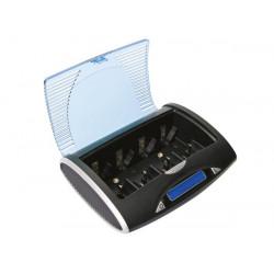 vle4 cargador descargador rápido universal para baterías de NiMH con pantalla LCD y salida USB