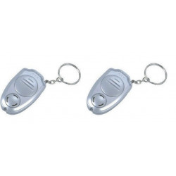 2 X Ultrasonic anti mosquito repeller insect with keychain ring electronic machine repellent killer