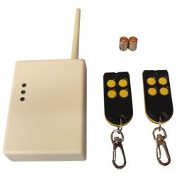 Pack domotique compose de 2 telecommandes radio rc40 1 recepteur radio uc216 3 canaux domotiques