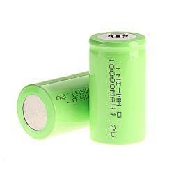 1 Pile Batterie rechargeable NiMH D hr20 lr20 D r20 10000 mAh 10a