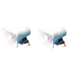2 X Electronic alarm siren 125db fbi american police double dial tone siren, 12vdc 30w siren alarm sirens electronic acoustic al