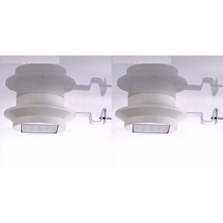 NEW SOLAR WHITE LED STAINLESS STEEL GARDEN WALL LAMP LIGHT OUTDOOR MOUNTABLE