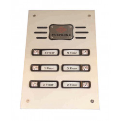 Interphone de rue 6bp (alpp 6xcpp à rajouter) platine interphone de rue platines pour interphones