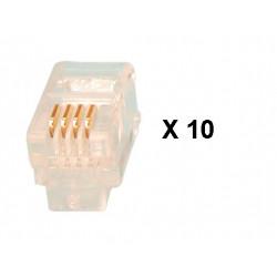 Plug rj09 4p 4c plug for telephone handset (10 items) telephone handsets plugs plug rj09 4p 4c plug for telephone handset (10 it