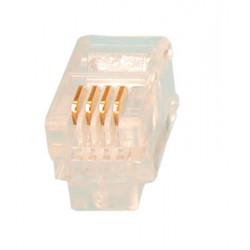Rj09 4p 4c plug for telephone handset (1 item) rj09 4p 4c plug for telephone handset (1 item)