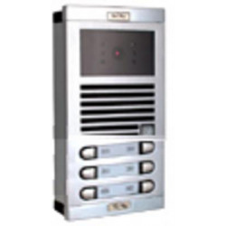 Video ntercom street intercom plate for 6 apartments b w external intercom station intercom system audio and intercom panels int