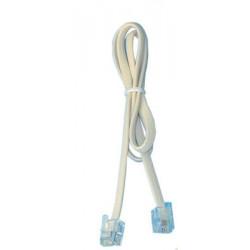 Cordon telephonique 0,5m rj11 vers rj11 6p/4c fiche cable telephone