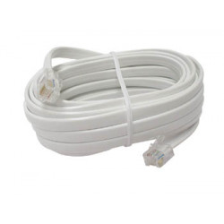 Cable telephone cable, rj12 to rj12 6p6c, 4m cable cord wire cables cords wires telephone cable cables phone cord cords telephon