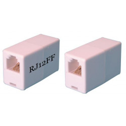 Adaptateur telephonique rj12 femelle vers rj12 femelle 6p6c us voyage tcu2