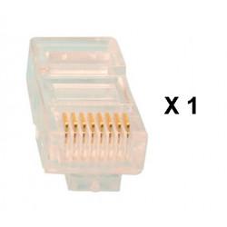 1 fiche modulaire rj45 plug cristal 8p/8c reseau prise telephonique telephonie 8p8c cat5 cat5e